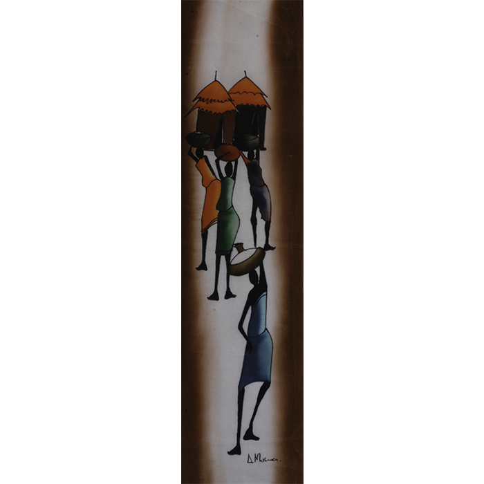 african painting carrying water